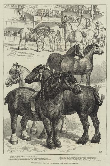 The Cart-Horse Show at the Agricultural Hall--Giclee Print