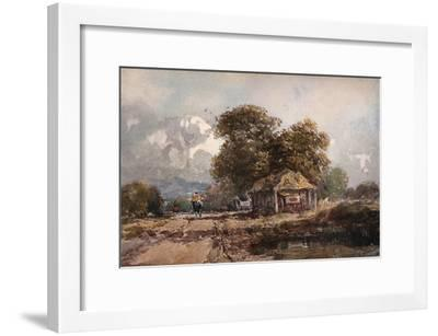 'The Cart Shed', 1841-David Cox the elder-Framed Giclee Print