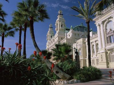 The Casino from the South Terrace, Palms and Flowers in Foreground, Monte Carlo, Monaco, Europe-Ruth Tomlinson-Photographic Print