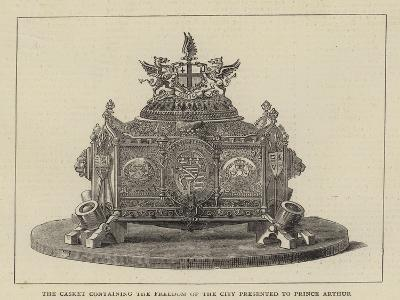 The Casket Containing the Freedom of the City Presented to Prince Arthur--Giclee Print