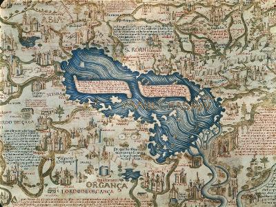 World Map Caspian Sea.The Caspian Sea From World Map By Camaldolese Monk Fra Mauro 1449