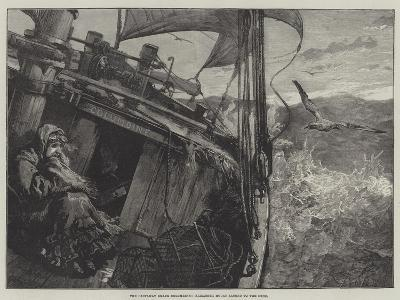 The Castaway Smack Columbine, Elizabeth Mouat Lashed to the Deck-William Heysham Overend-Giclee Print