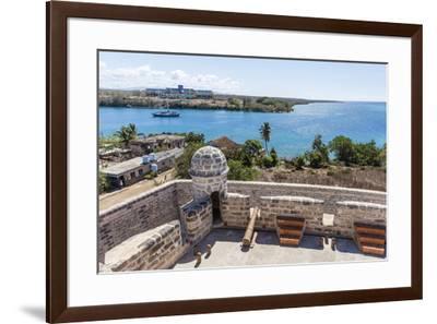 The Castillo de Jagua fort, erected in 1742 by King Philip V of Spain, near Cienfuegos, Cuba, West -Michael Nolan-Framed Photographic Print