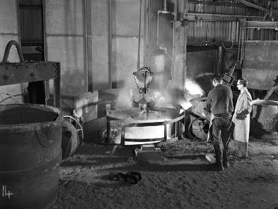 The Casting Furnace at Wombwell Foundry, South Yorkshire, 1963-Michael Walters-Photographic Print