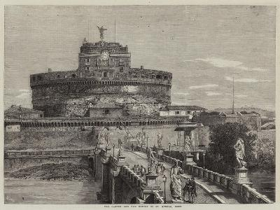 The Castle and the Bridge of St Angelo, Rome-Richard Principal Leitch-Giclee Print