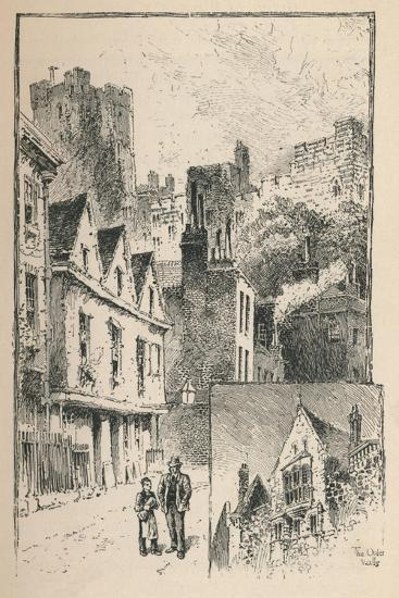 'The Castle from Thames Street. A Bit of the Outer Walls', 1895-Unknown-Giclee Print