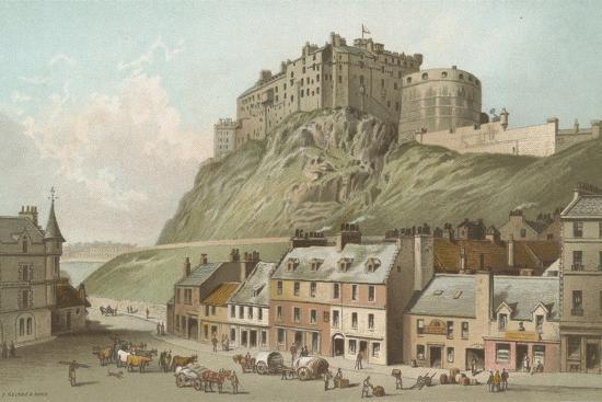 The Castle from the Grassmarket - Edinburgh-English School-Giclee Print