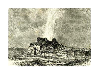 The Castle Geyser in Action 1891 Usa--Giclee Print