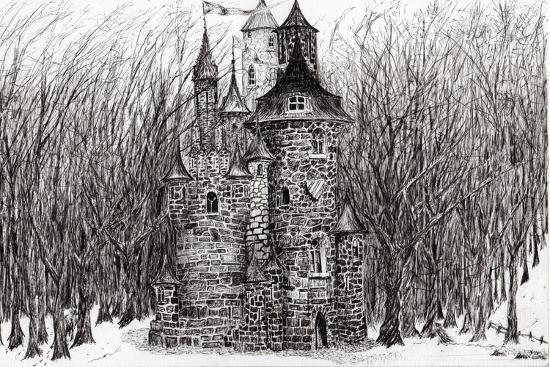 The Castle in the Forest of Findhorn, 2009-Vincent Alexander Booth-Giclee Print