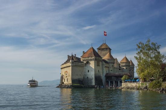 The Castle of Chillon, on Lake Geneva, Montreux, Canton Vaud, Switzerland, Europe-Angelo Cavalli-Photographic Print