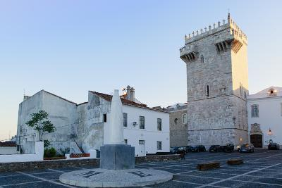 The Castle of Estremoz and in the Foreground, Statue of St. Elizabeth (Isabella) of Portugal-Alex Robinson-Photographic Print