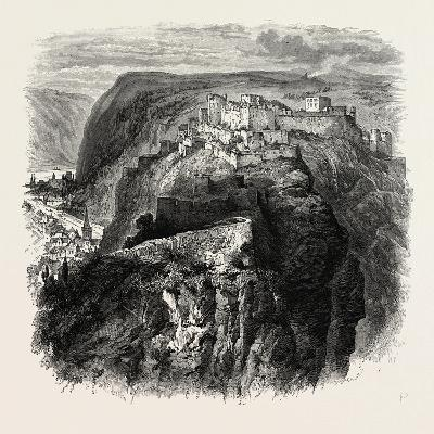 The Castle of Rheinfels, the Rhine, Germany, 19th Century--Giclee Print