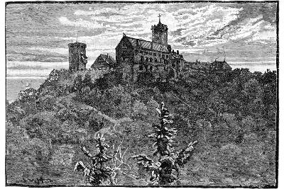 The Castle of Wartburg, 1900--Giclee Print