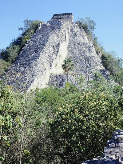 The Castle Pyramid in Coba--Giclee Print