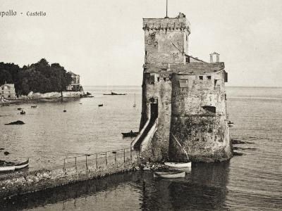The Castle - Rapallo, Italy, Guarding the Entrance to the Harbour--Photographic Print