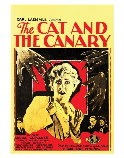 The Cat And The Canary - 1927 III--Giclee Print