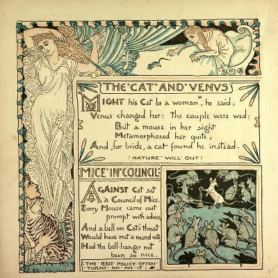 The Cat and Venus Mice in Council--Giclee Print