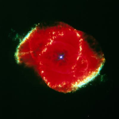 The Cat' Eye Nebula Seen From the Hubble Telescope--Photographic Print