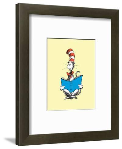 The Cat in the Hat (on yellow)-Theodor (Dr. Seuss) Geisel-Framed Art Print