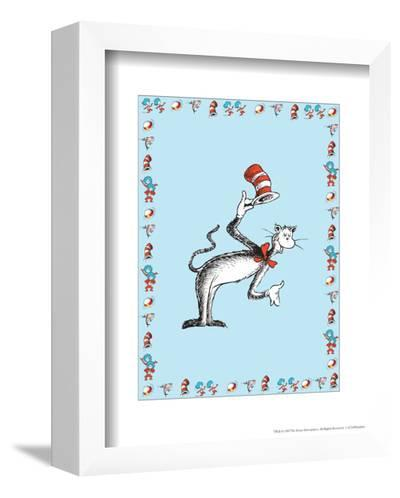 The Cat in the Hat: The Cat (on blue)-Theodor (Dr. Seuss) Geisel-Framed Art Print