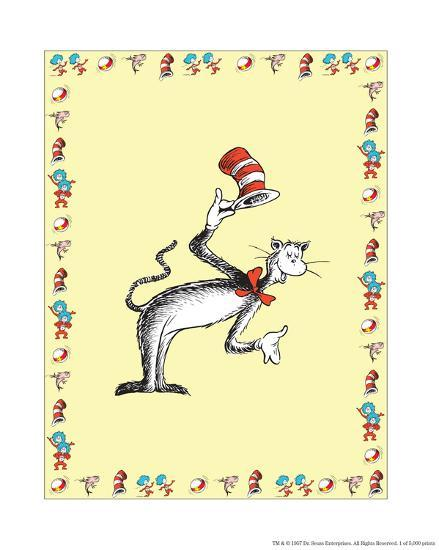 The Cat in the Hat: The Cat (on yellow)-Theodor (Dr. Seuss) Geisel-Art Print