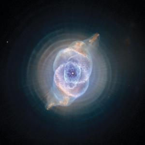 The Cat's Eye Nebula formed as an expiring sun