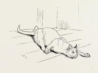 The Cat That Ate the Rat, 19th Century--Giclee Print