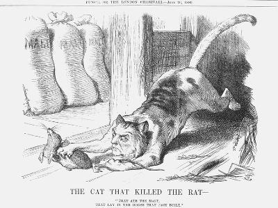 The Cat That Killed the Rat, 1880-Joseph Swain-Giclee Print