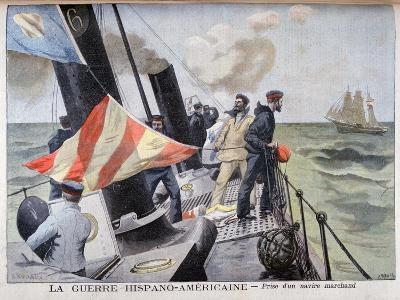 The Catching of a Merchant Vessel, Spanish-American War, 1898-F Meaulle-Giclee Print