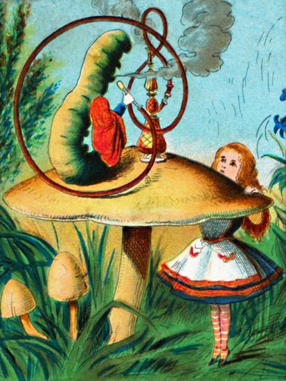 'The caterpillar on his mushroom', c1900-Unknown-Giclee Print