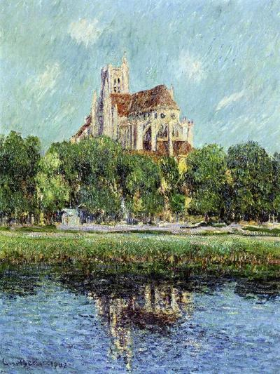The Cathedral at Auxerre, 1907-Gustave Loiseau-Giclee Print