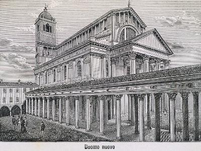 The Cathedral at Novara by Antonelli, 1877--Giclee Print