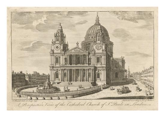 The Cathedral Church of St Paul's in London, in the Mid-18th Century--Giclee Print