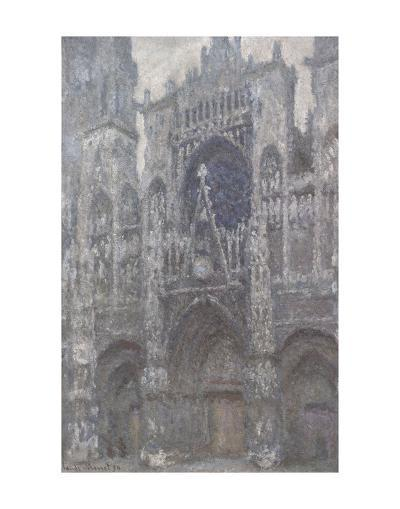 The Cathedral in Rouen, The Portal, Grey Weather, 1892-Claude Monet-Art Print