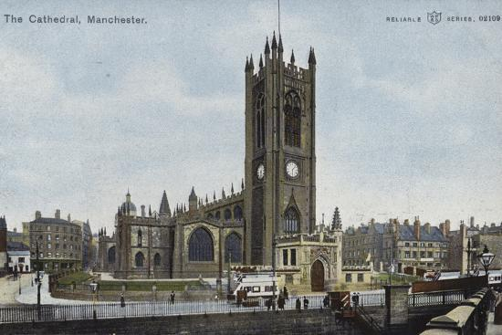 The Cathedral, Manchester--Photographic Print
