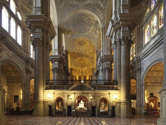 The Cathedral of Mßlaga Is a Renaissance Church in City of Mßlaga in Andalusia in Southern Spain-David Bank-Photographic Print