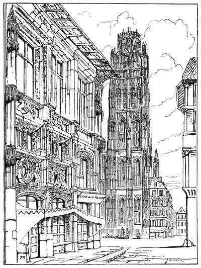 The Cathedral Spire, Rouen, 1835-John Ruskin-Giclee Print
