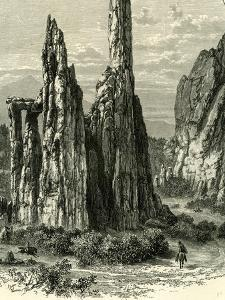 The Cathedral Spires in the Garden of the Gods, USA, 1891
