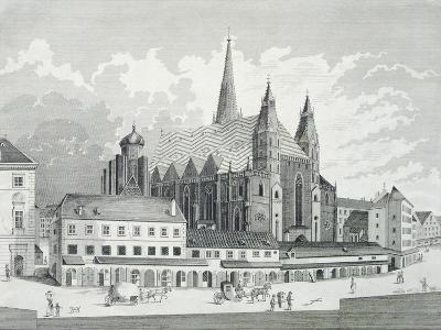 The Cathedral Square in Vienna, 1780, Austria Engraving--Giclee Print