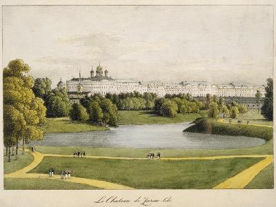 The Catherine Palace in Tsarskoye Selo, 1821-1822-Andrei Yefimovich Martynov-Giclee Print