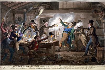 The Cato Street Conspirators..., 1820-George Cruikshank-Giclee Print