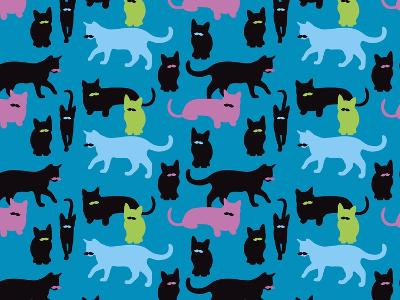 The Cats Meowstache-Joanne Paynter Design-Giclee Print