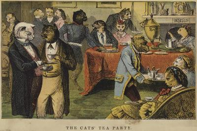 The Cats' Tea Party--Giclee Print