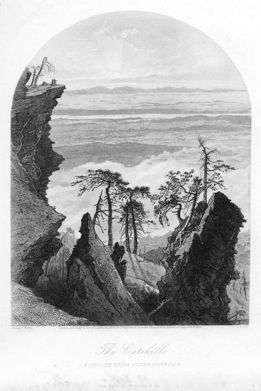 The Catskills, Sunrise from South Mountain, 1873--Giclee Print