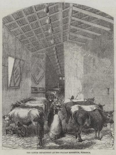 The Cattle Department at the Italian Exposition, Florence--Giclee Print