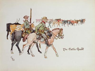 The Cattle Guard, from 'The Leaguer of Ladysmith', 1900-Captain Clive Dixon-Giclee Print