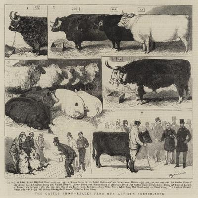 The Cattle Show, Leaves from Our Artist's Sketch-Book-Alfred Chantrey Corbould-Giclee Print