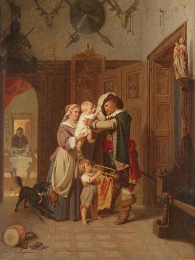 The Cavalier's Return, 1855-August Friedrich Siegert-Giclee Print