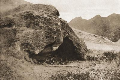 The Cave on Juan Fernandez Island in Which Alexander Selkirk Lived--Giclee Print