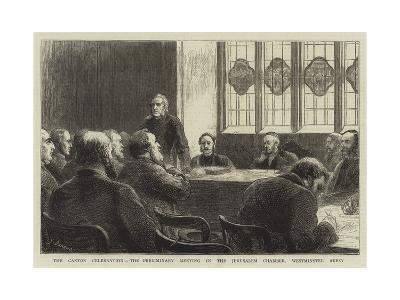 The Caxton Celebration, the Preliminary Meeting in the Jerusalem Chamber, Westminster Abbey-Godefroy Durand-Giclee Print